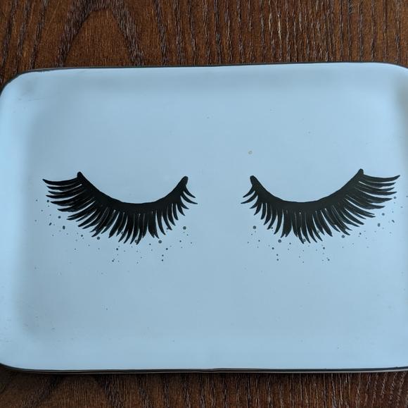 Eyelash Glam Home Decor Vanity Tray